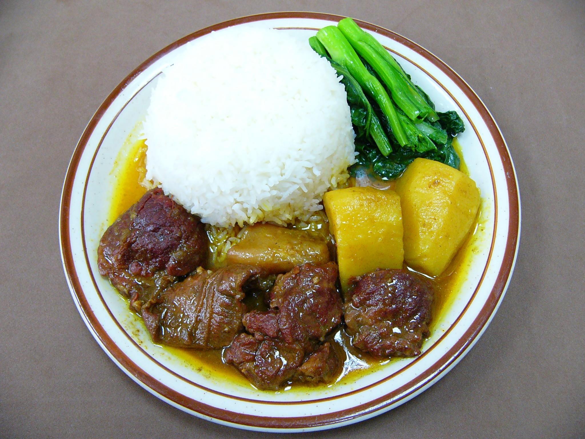 咖哩牛腩飯